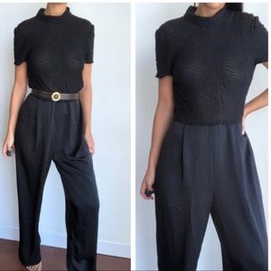 Vintage DW3 for David Warren black jumpsuit